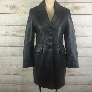 Mackage beautiful leather trench coat Mint